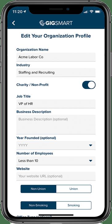 org profile